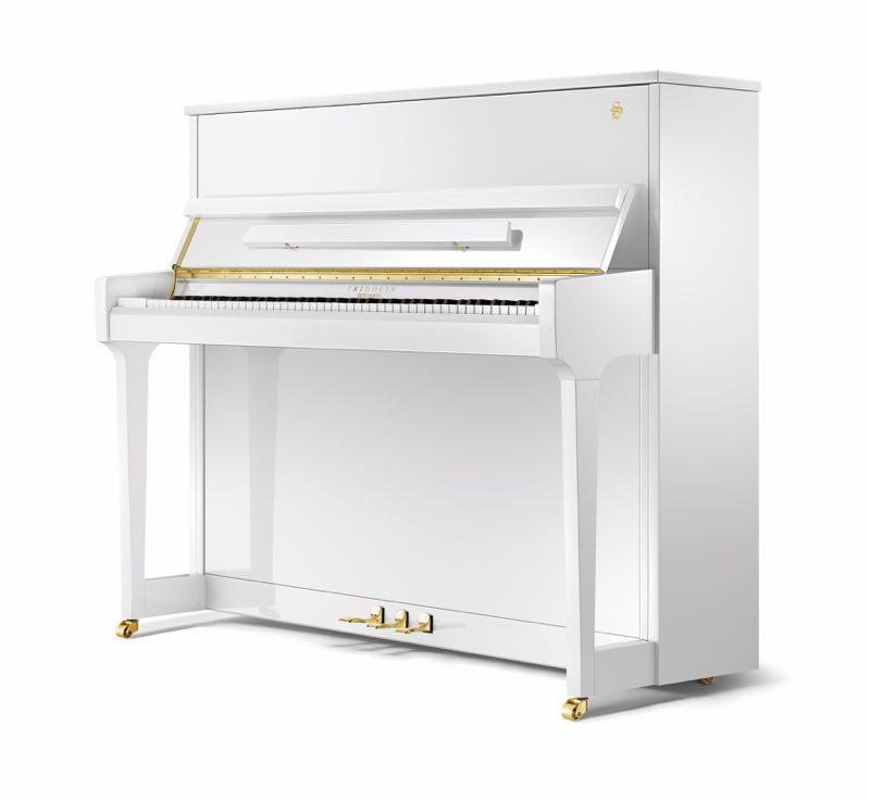 舒密尔Fridolin钢琴F123白色