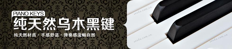 珠江JY122钢琴的天然乌木黑键
